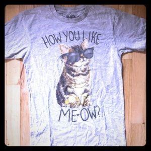Funny kids cat t-shirt. How you like Meow?
